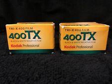 Two 2 Kodak 400 TX Tri-X B&W Film - 36 Exp 2 Boxes Total