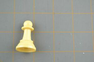 Whitman Chess Pawn Mover Piece White Vintage Plastic Hollow Replacement Part