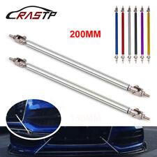 1 Pair Adjustable 200mm Front Bumper Lip Splitter Rod Strut Tie Bar Support Kit
