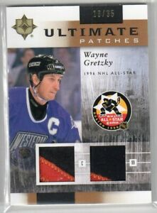 2011/12 WAYNE GRETZKY UD ULTIMATE PATCHES #16/35 DUAL ALL-STAR PATCHES #UJ-WG!