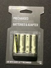 Goal Zero AAA NiMH Rechargeable Battery 4 Pack PRECHARGED use with Guide 10 Plus