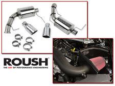 2011-2014 Mustang V6 3.7 Roush Cold Air Intake Kit & Axle Back Muffler Exhaust