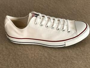 Converse All Star OX Mens Canvas Trainers Shoes White - All Sizes
