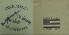 MARINE CORPS MARTIAL ARTS OD Green T-Shirt (Sz Sm)