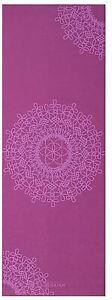 Gaiam Yoga Mat Classic Purple Medallion Print 4mm Non Slip Lightweight Mat NEW