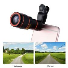 Universal 12X Zoom Phone Clip-on Telescope Camera Lens for ios Android A8Z4