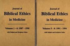 JOURNAL OF BIBLICAL ETHICS IN MEDICINE 2 VOLUME SET  HILTON TERRELL