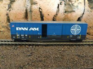 N Scale Micro trains 50' single door boxcar MEC PAN AM RAILWAY NIB. RARE