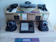2x New SONY EVI D100 CP PAL + VISCA Controller WEB STREAMING HD TV AWS BRC SRG H