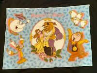 "Vintage Disney Princess Beauty and The Beast Belle Rug Door Mat 25x34"" Original"