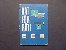 Buch, Rat für Räte, Junge Pioniere, Freundschaftsrat, Verlag Junge Welt 1978 DDR