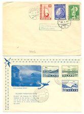 ICELAND 1939/1952 --2 x FDC -- -F/VF