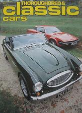 Classic Cars 01/1979 featuring Aston Martin DBR4, Austin Healey 4000, AC Ace