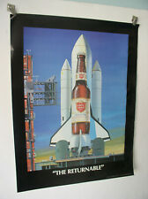 Original 1984  Lone Star Beer Poster THE RETURNABLE 22x17 inches new but damaged