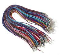 10 Leder Halsband Halskette 43cm Karabinerverschluss Schmuckherstellung C62