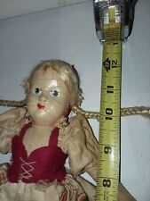 """New listing Antique Cloth Doll Hand Painted Face 12"""" Tall"""