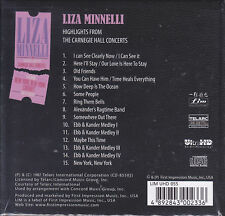 """FIM/LIM """"Liza Minnelli Highlights from Carnegie Hall Concerts"""" 32-bit UltraHD CD"""