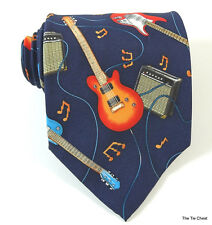 Electric Guitar Tie Music Instrument Necktie