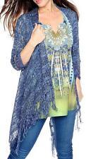 NEW - One World Printed Knit Embellished Top & Sweater Knit Cardigan Set - Sz XS