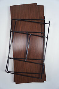 60er Bookcase Vintage String Shelf Oak Wall Shelf Danish Shelf System 7