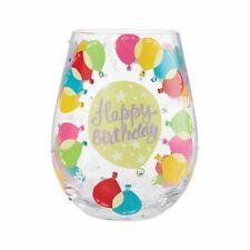 More details for lolita 6008682 birthday balloons stemless glass