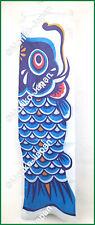 Koinobori Japanese Carp Streamer Blue Koi Nobori Fish Flag Windsock Good Luck JP