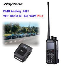 AT-D878UV Plus Tier I II 3100mAh GPS Dual Band DMR/Analog BT PTT Two Way Radio