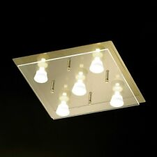 Honsel lámpara LED de techo Lennox 5 LLAMAS vidrio bronce dormir Salón ESS