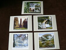 Plants, Kew Gardens m/s 2009, PHQ Stamp Cards, FDI Special H/S Back, Set of 5