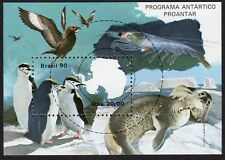 Brazil: Brazilian Antarctic Programme; unmounted mint (MNH) mini sheet; penguins