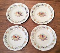 RARE VTG HARVEST BY FAVOLINA LOT OF 4 BREAD & BUTTER  MADE IN POLAND FALL COLORS