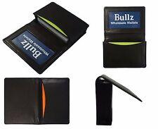 Lambskin leather credit card-ID holder case slim design black men's wallet