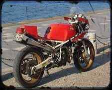 Gilera Saturno 500 88 3 A4 Metal Sign Motorbike Vintage Aged