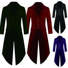Vintage Mens Swallow-tailed Cropped Coat Tuxedo Banquet Stage Tail Coat Overcoat