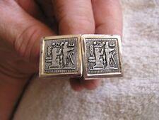 Vintage Cufflinks Egypt Motif