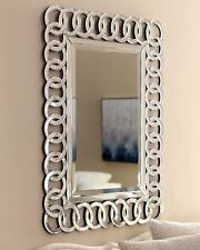 ITALIAN Large Silver Wall Rectangular Living Bathroom Hallway Bedroom Mirror NEW