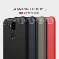 HybridArmor Carbon Fiber Case for ASUS All Serial ZenFone Phone Rubber TPU Cover