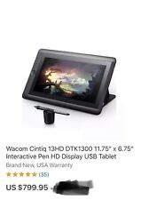 Wacom Cintiq 13'' HD  Professional Drawing Tablet