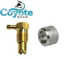 """1/2"""" NPT Brass Rollover Check Vent Valve & 316 Stainless Weld Bung Gas Fuel Tank"""