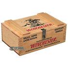 New Vintage Editions Lockable Winchester Wooden 250 Shotgun Shell Ammo Box
