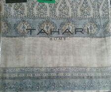 Tahari 3 pc F/Queen Duvet Cover Set Damask Medallion Paisley Gray Cream Blue new