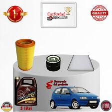 Filtres Kit D'Entretien + Huile Fiat Punto II 1.8 16V 96KW 130CV Du 2002->2010