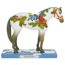 Winter Feathers Painted Pony Figurine