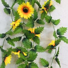 Sunflower Ivy Vine Artificial Flowers Green Leaves Hanging Garland Superb