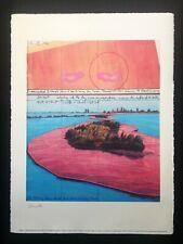 Christo Surrounded Island - Miami, 1982 56x76 - MACBA - Hand signed