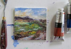 PLEIN AIR IMPRESSIONISM ORIGINALOIL PAINTING MINI LANDSCAPE ANNE THOUTHIP ART