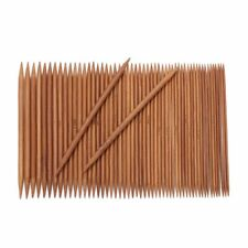 55pcs 11 Sizes 13cm 5'' Double Pointed Carbonized Bamboo Knitting Needles Set
