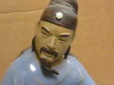 vintage asian china teacher philosopher ceramic mud statue figurine