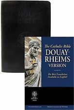 The Holy Bible Douay Rheims Catholic Version : Standard Size Leather Black