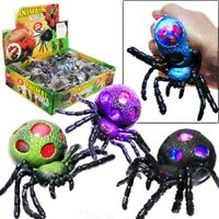 1-Animal World Super Squishy Spider Sensory Stress Ball for Kids/ Adults